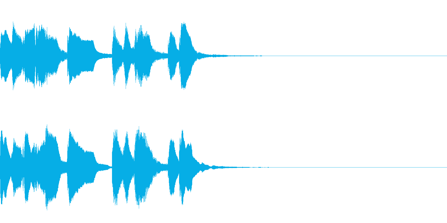 不思議なものに出会ったときの音楽 3秒の再生済みの波形