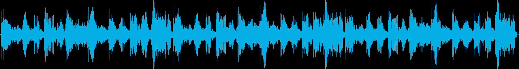 ハウスの新しい風を吹き込むループBGMの再生済みの波形