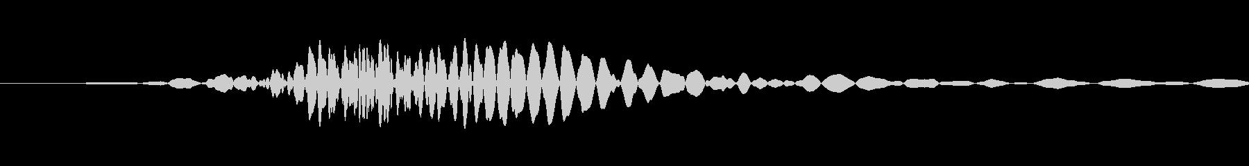 風を切った音の未再生の波形