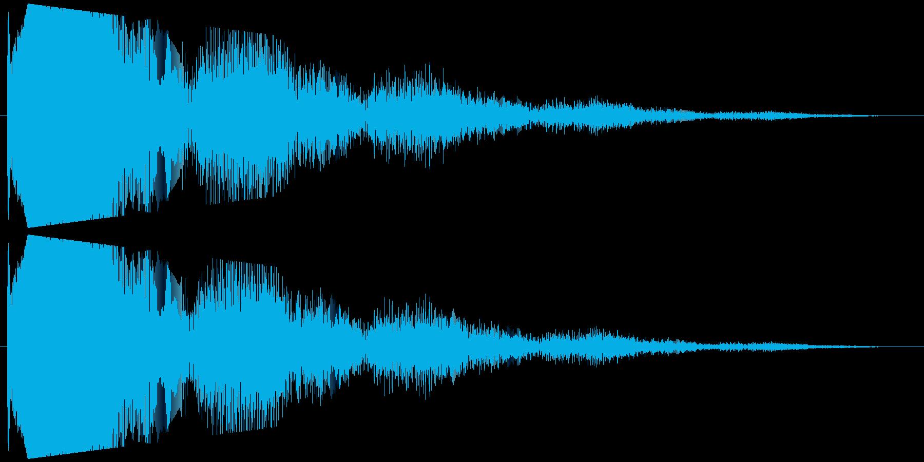 コミカルな失敗する音。ピヨピヨの再生済みの波形