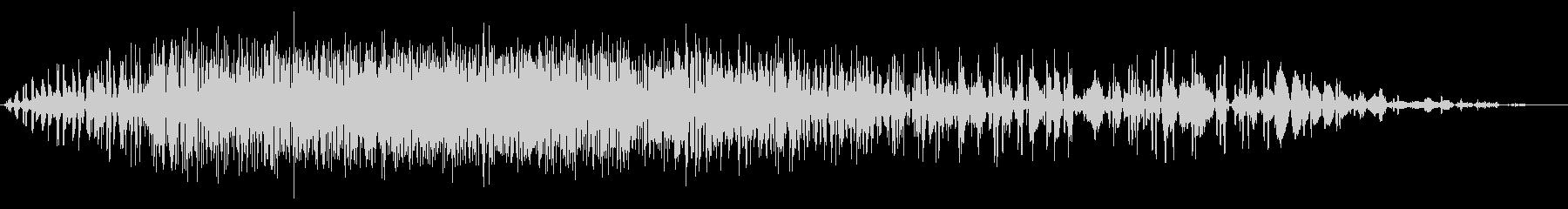 短い地鳴り・地震#2の未再生の波形