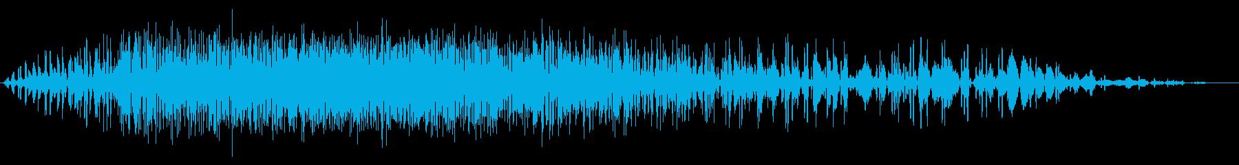 短い地鳴り・地震#2の再生済みの波形