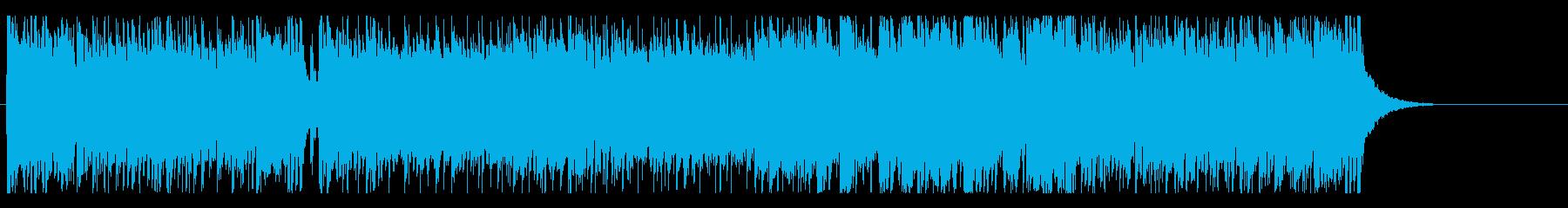 躍動感のあるいきいきとしたフュージョンの再生済みの波形