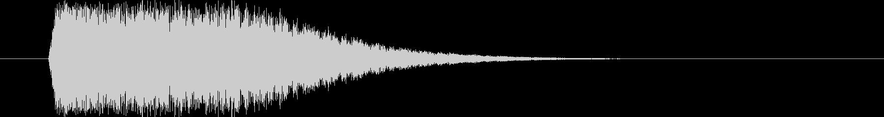 インパクト_しゃきーん(m0283)の未再生の波形