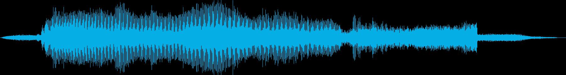 電動ジグソー:スタート、ライトウッ...の再生済みの波形