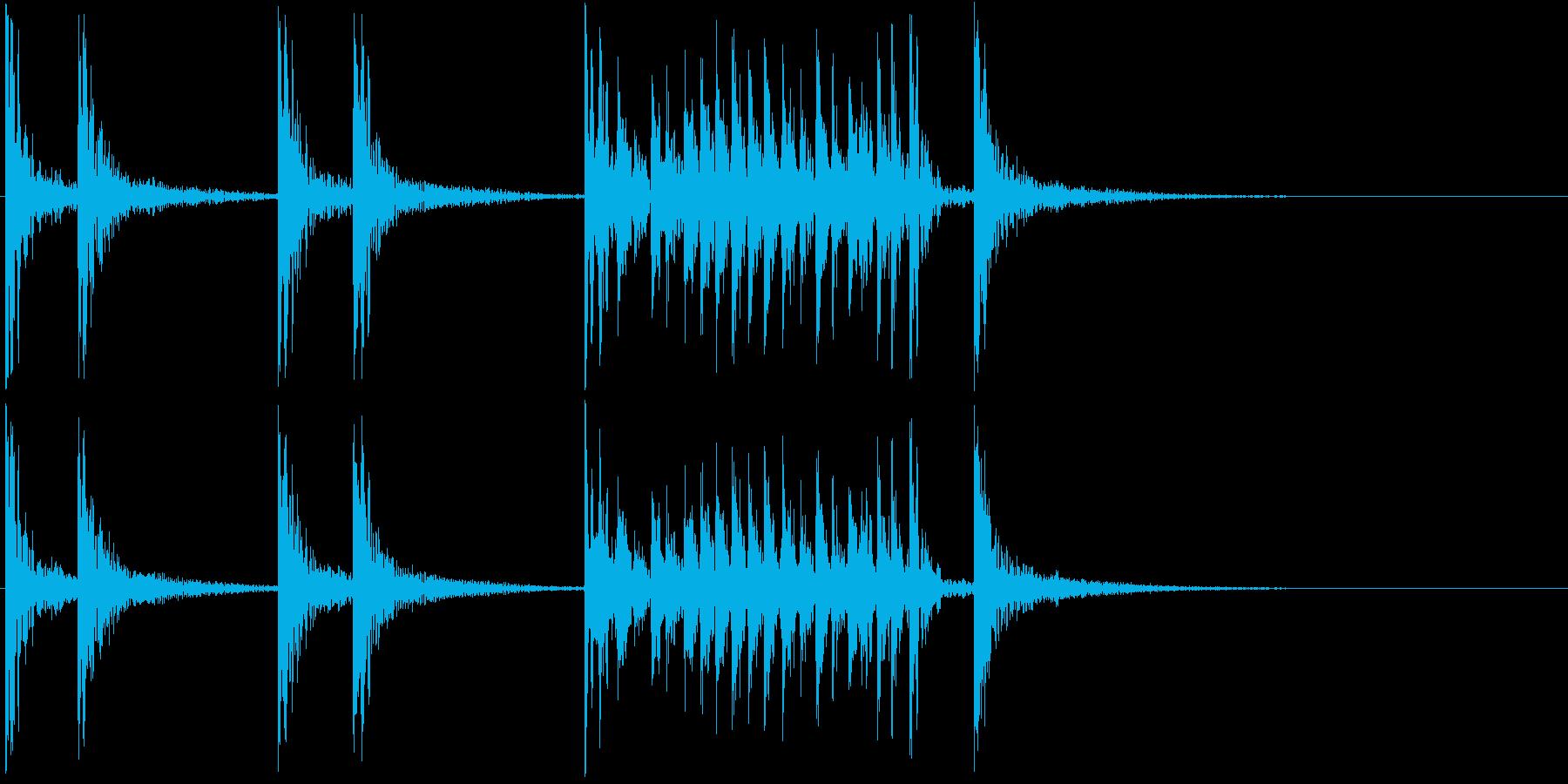 低音:ファンファーレ、漫画コメディ...の再生済みの波形