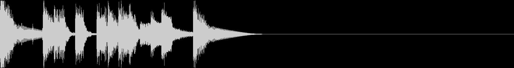 おしゃれイケイケ/サウンドロゴの未再生の波形