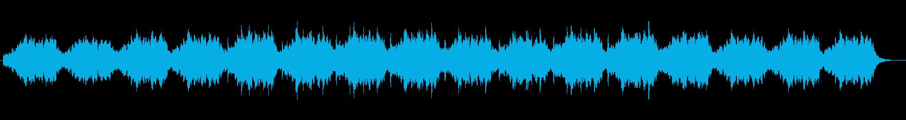 自然の中を漂うような癒しBGMの再生済みの波形
