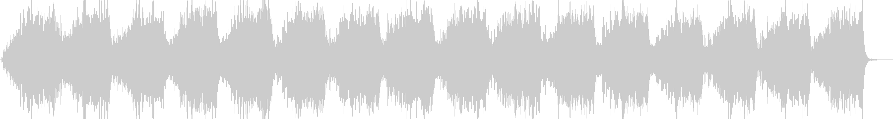 森の中をイメージしたヒーリングBGMの未再生の波形