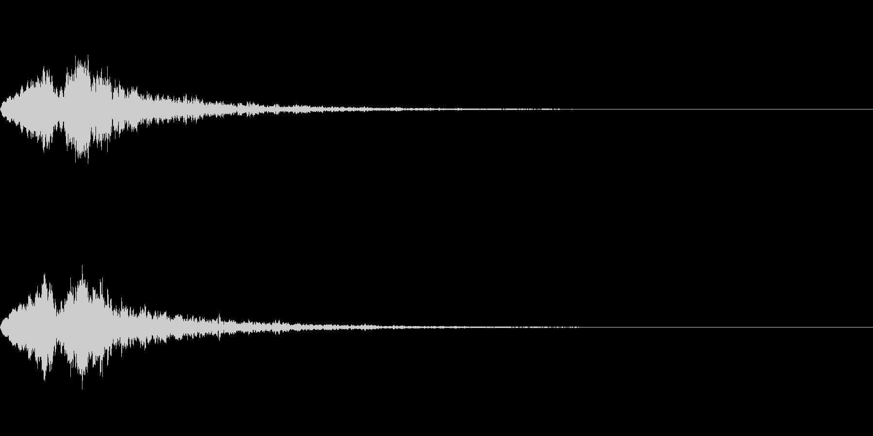 Vox 不気味な鳴き声 ホラーSE 2の未再生の波形
