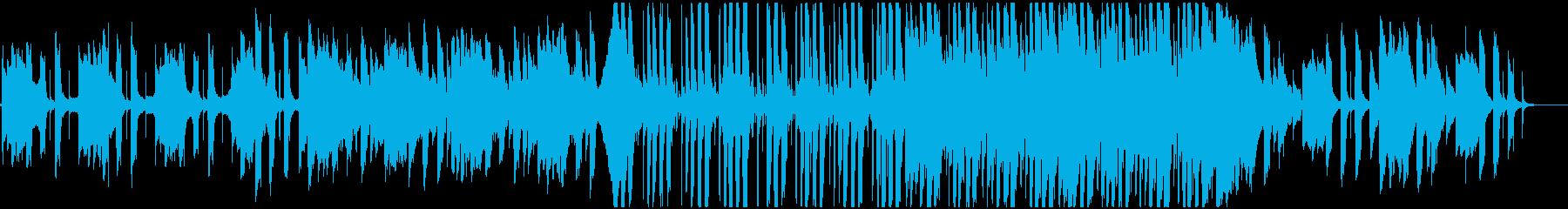 クリーントーンエレキギター主体の爽やか曲の再生済みの波形
