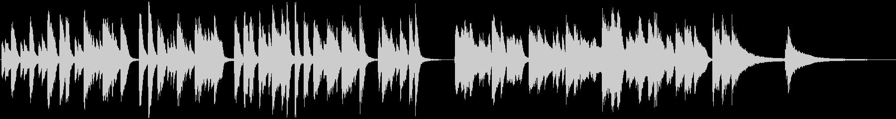 軽快ラグピアノ 映像シーン ウキウキ感の未再生の波形