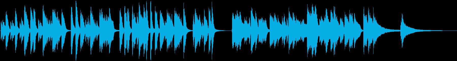 軽快ラグピアノ 映像シーン ウキウキ感の再生済みの波形