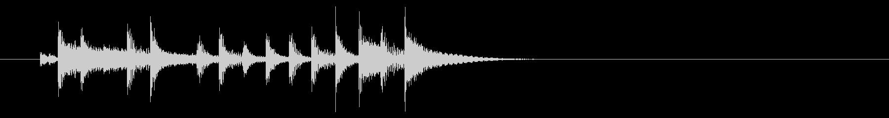 ファンク系ジングル、ドラムのみの未再生の波形