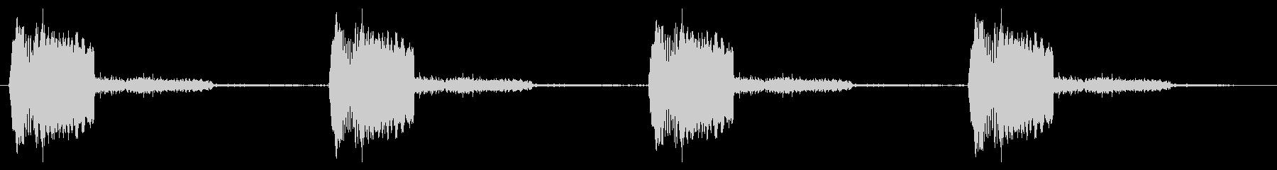 うるさすぎない警報音ループの未再生の波形