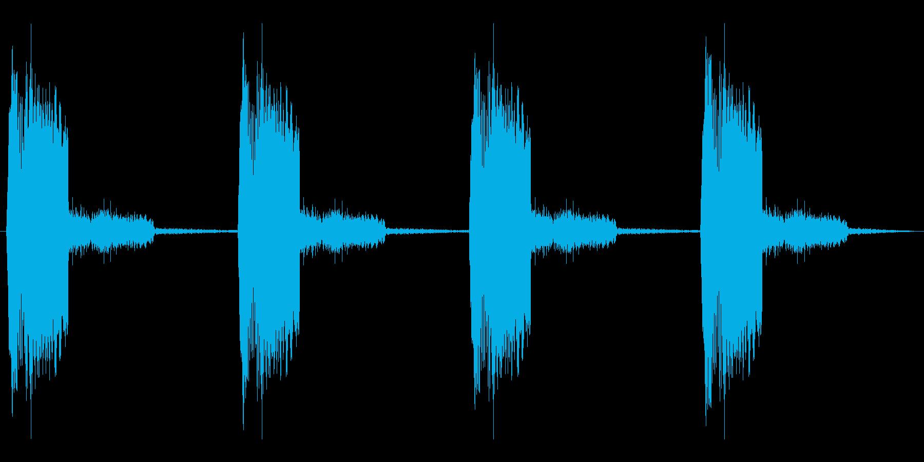 うるさすぎない警報音ループの再生済みの波形