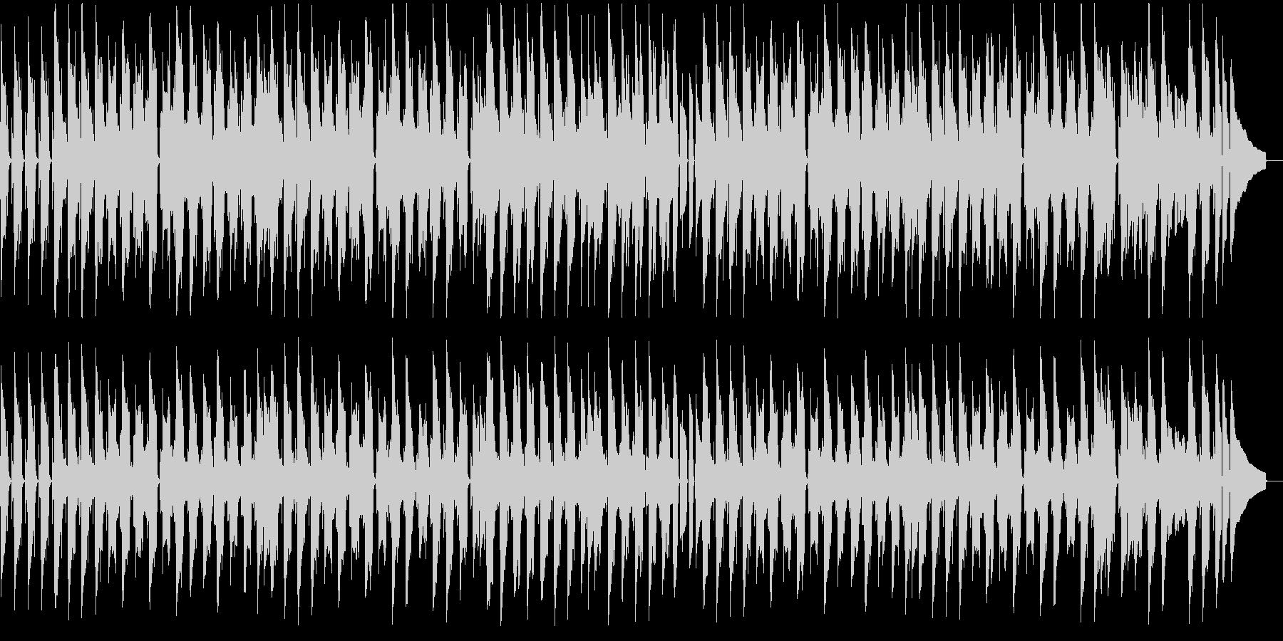 ほのぼのとしたのんびりムードのBGMの未再生の波形
