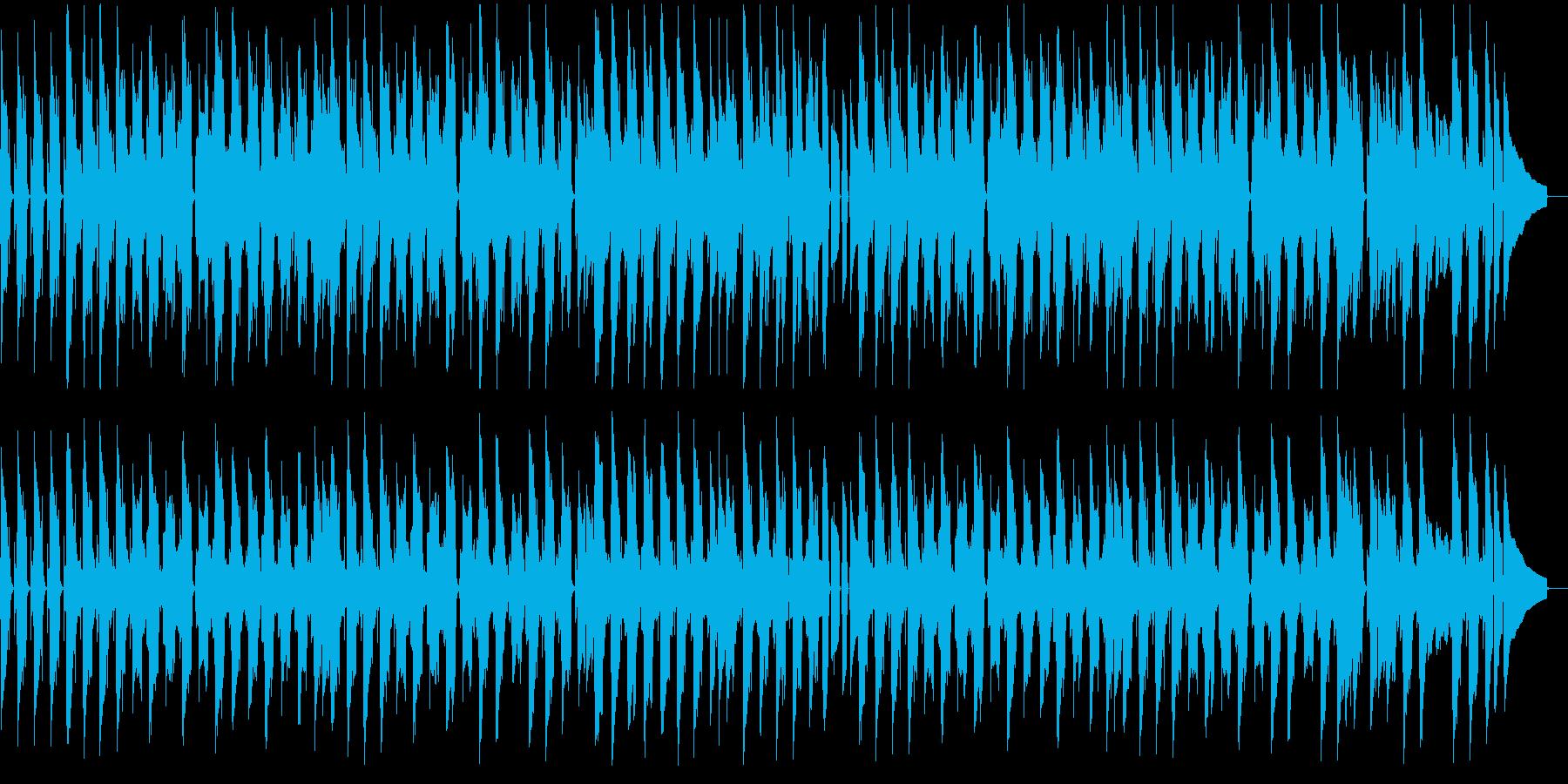 ほのぼのとしたのんびりムードのBGMの再生済みの波形