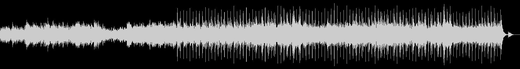 穏やか ピアノ フルートの未再生の波形