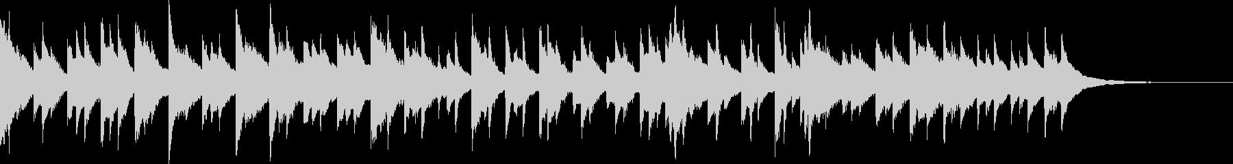 ミステリアスな雰囲気のハープの曲の未再生の波形