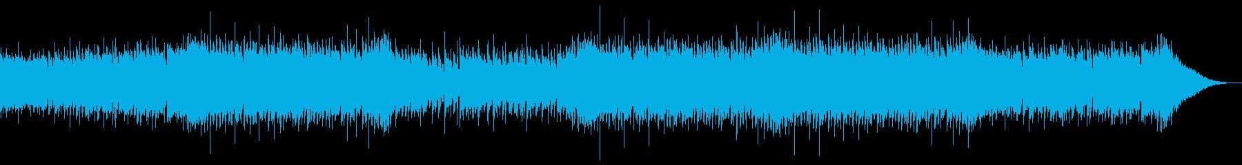 爽やかな夏のYoutube映像用ボサノバの再生済みの波形