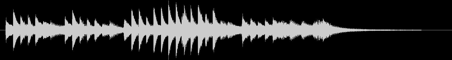 ジングルベルモチーフのピアノジングルDの未再生の波形