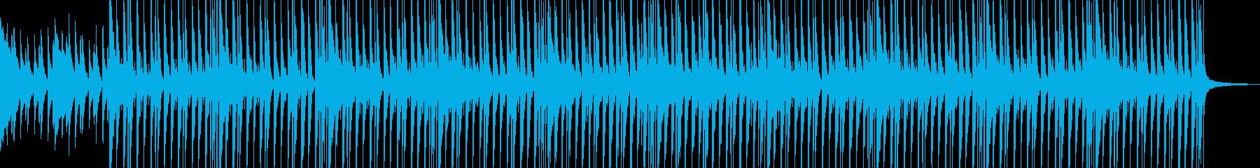 映像に、可愛く元気なピアノとグロッケンの再生済みの波形