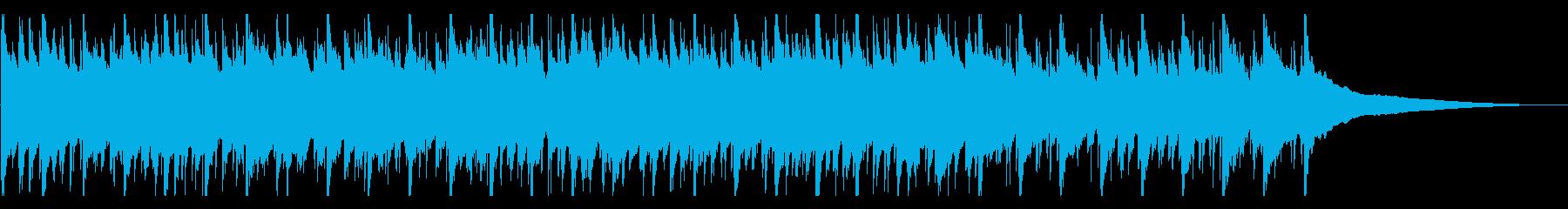 60秒打楽器なし楽しい、明るい、ウクレレの再生済みの波形