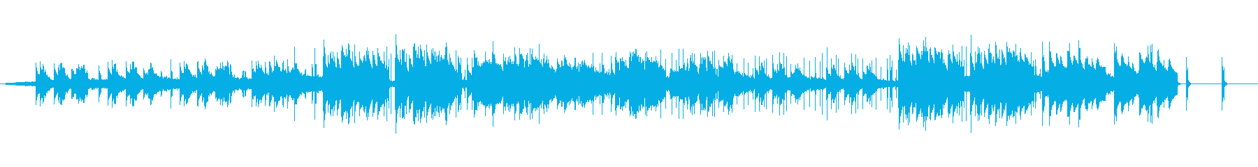 アンビエント、chill、やさしいBGMの再生済みの波形