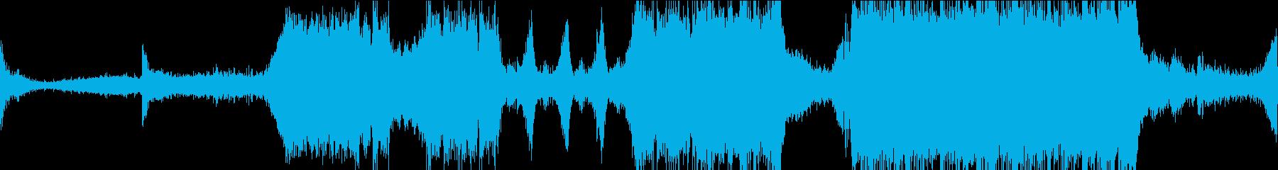 トレーラー風に始まり壮大なサビの楽曲の再生済みの波形