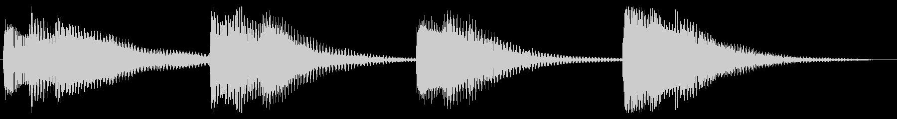 さわやかな放送お知らせチャイムの未再生の波形
