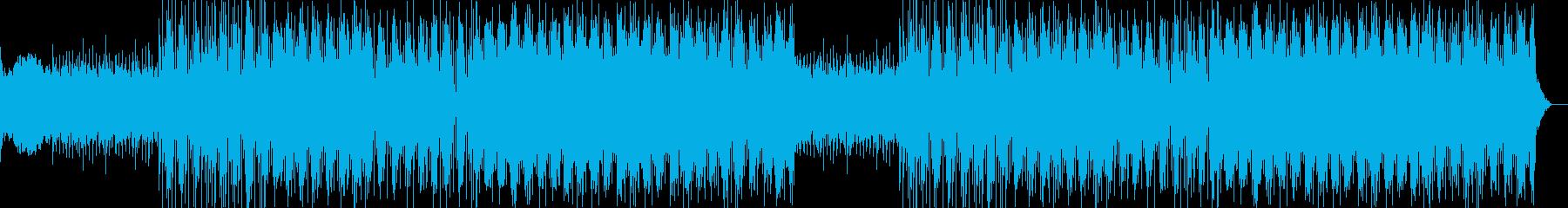 スローペースなエレキギターサウンドの再生済みの波形