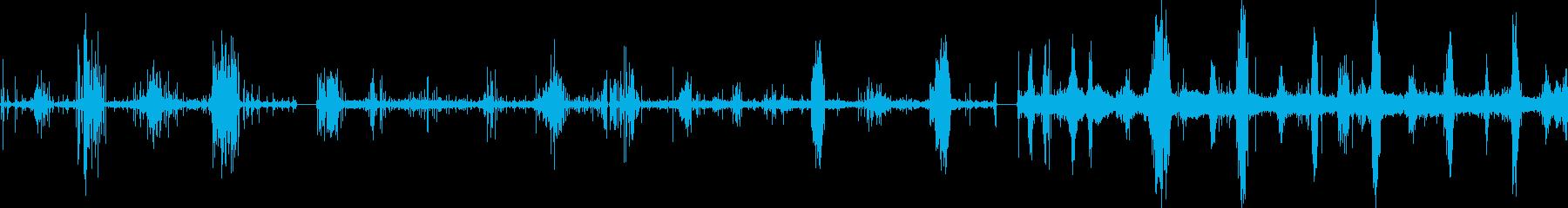 スチールワイヤー、プル、グラインド...の再生済みの波形