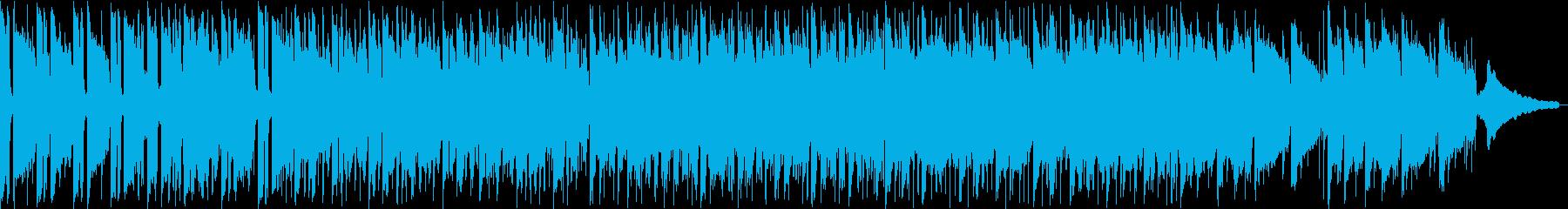 シンセサイザーのリードが印象的なインストの再生済みの波形