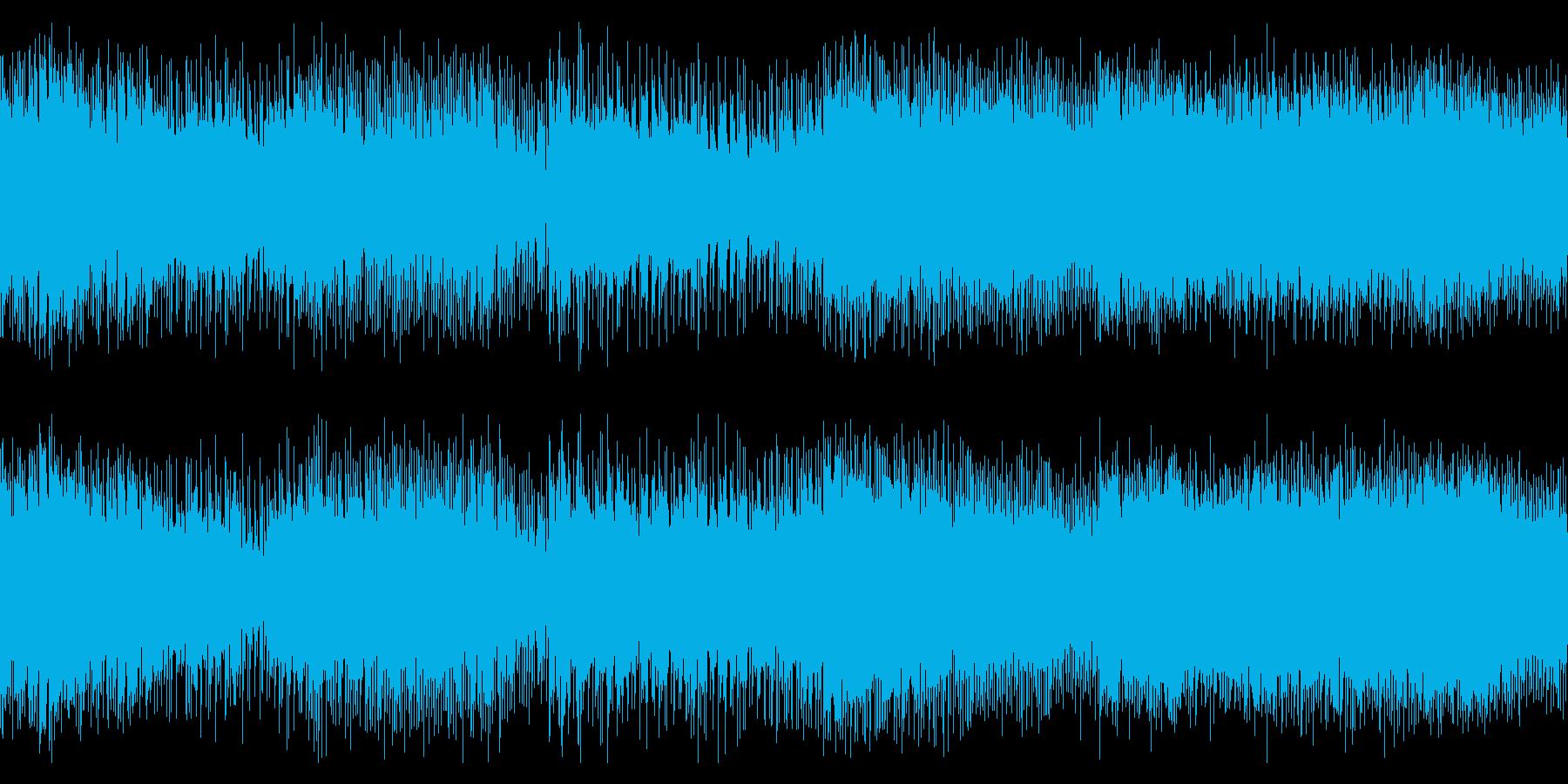 疾走感あるオルタナティブ・ロックの再生済みの波形