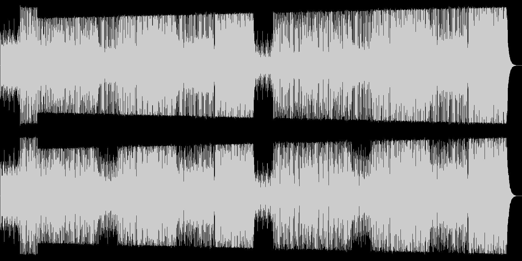 ワイルドでクールなテクノロックサウンドの未再生の波形