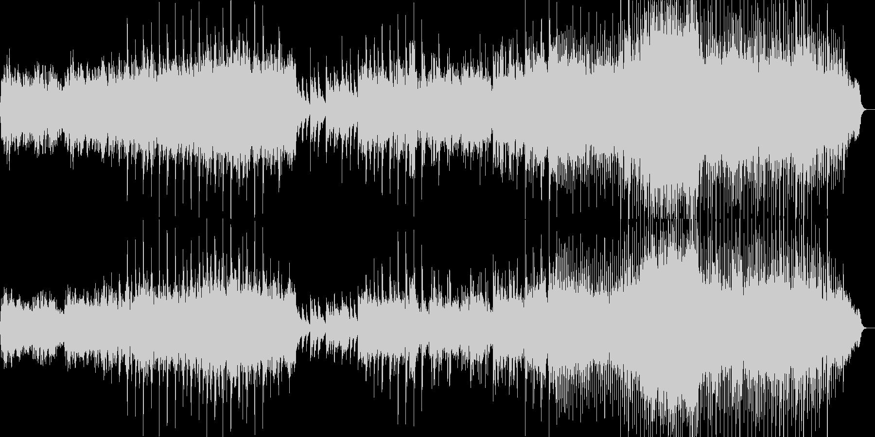 可愛らしい感じのインストの未再生の波形