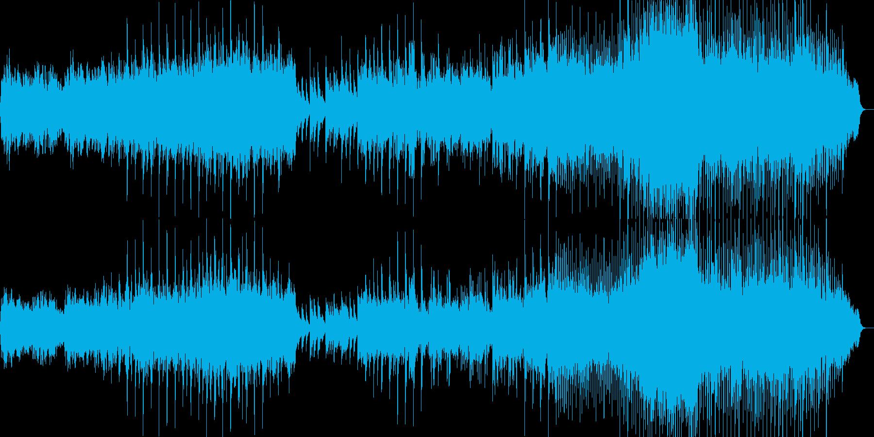 可愛らしい感じのインストの再生済みの波形