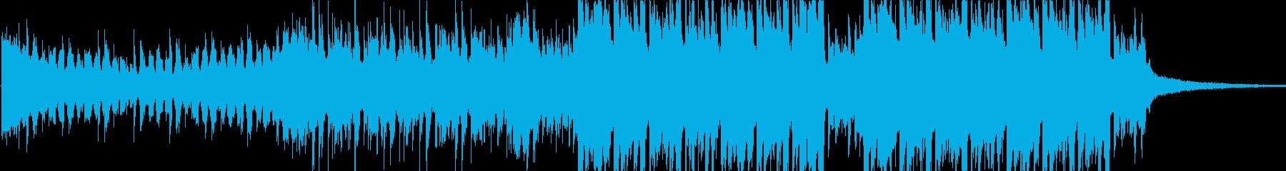シンプルで派手な和風EDMの再生済みの波形