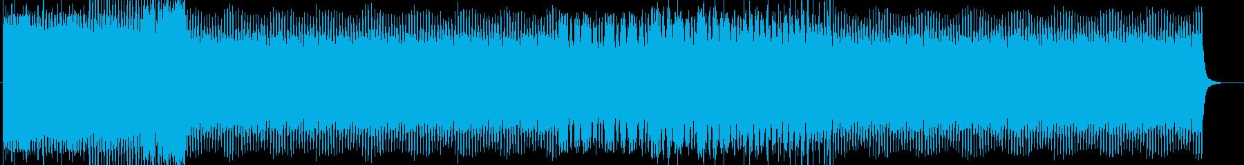 キラキラ輝くような4つ打ちEDMの再生済みの波形