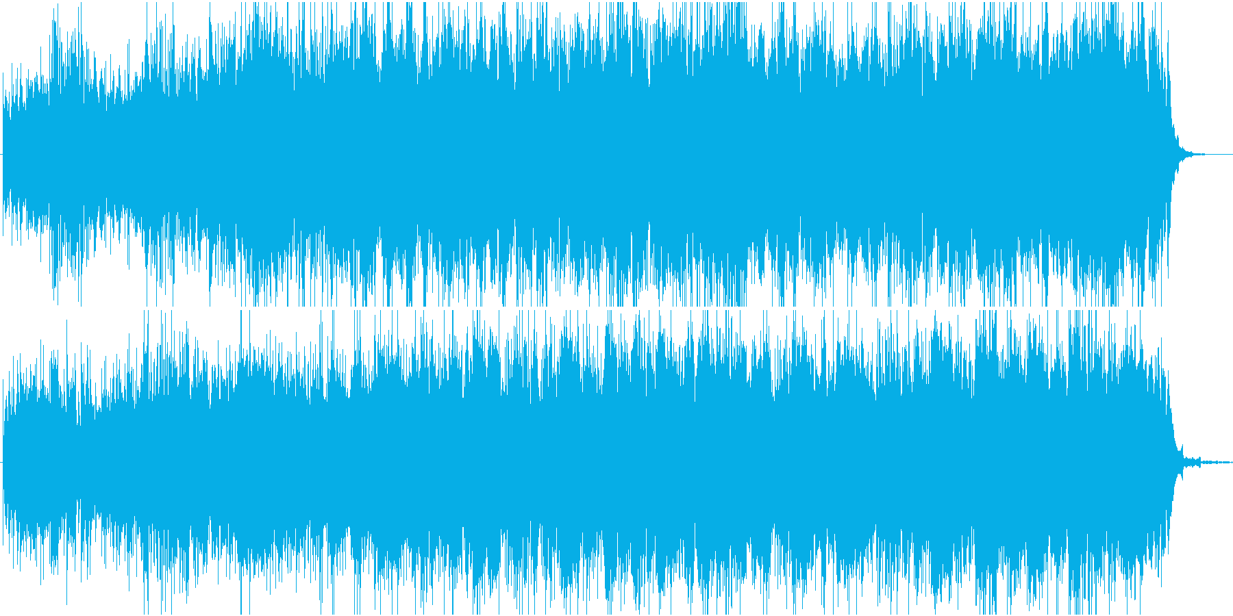 水中遊泳の再生済みの波形