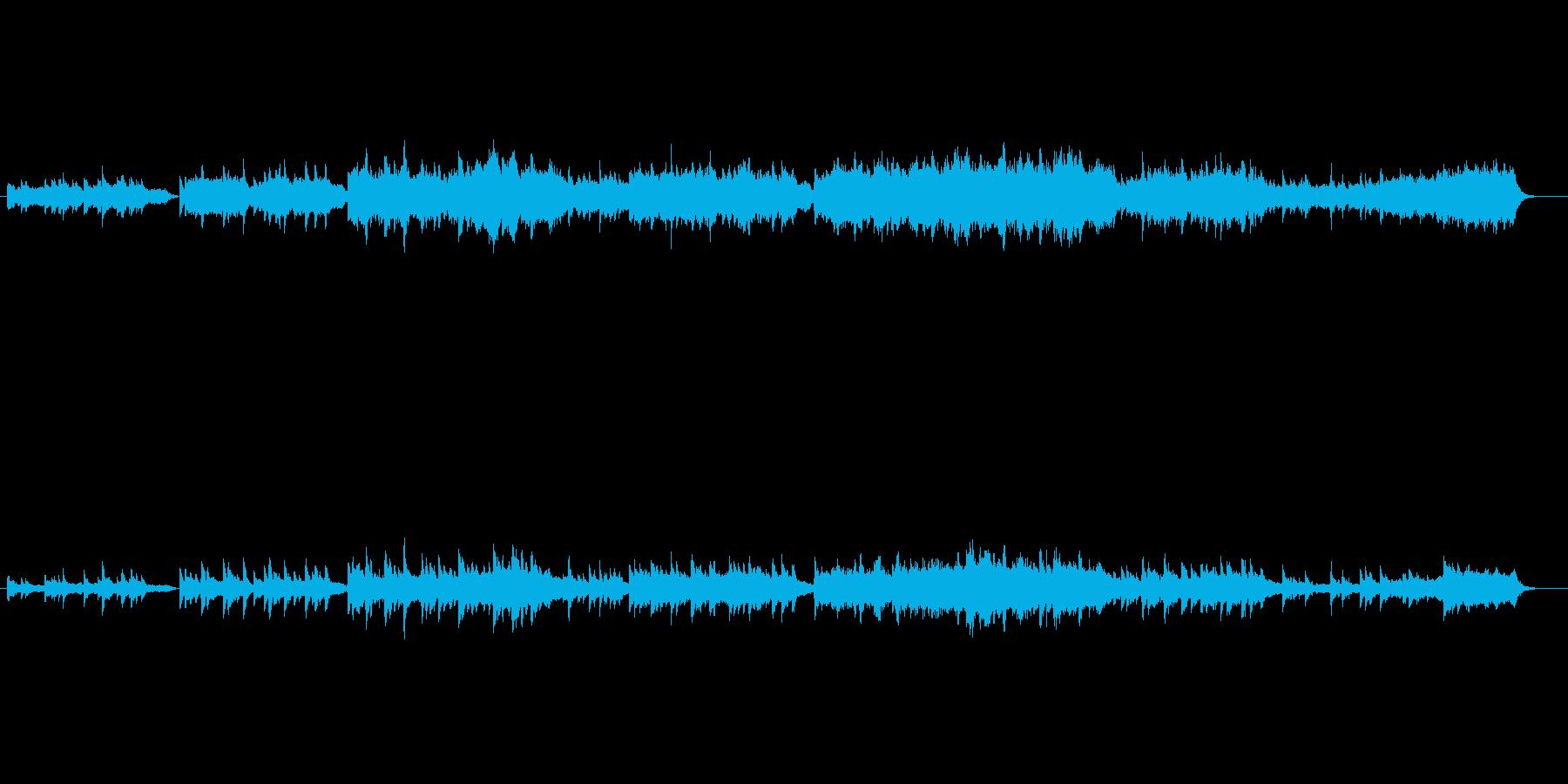 回想シーンの向き(あの頃を思い出せば…)の再生済みの波形