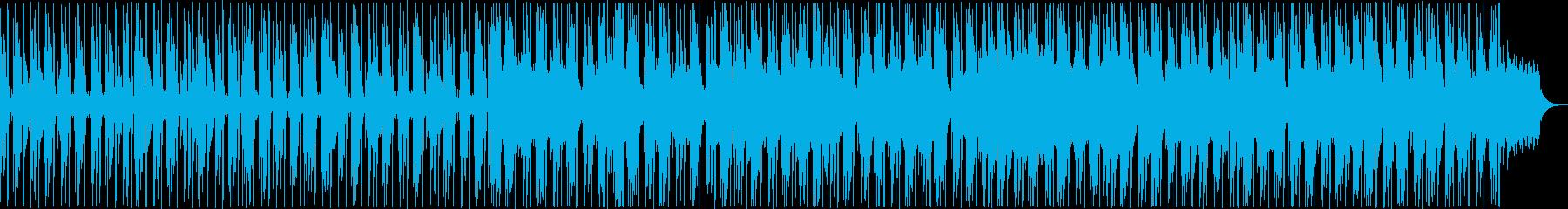 暗い洞窟の中のゆったりアンビエントテクノの再生済みの波形