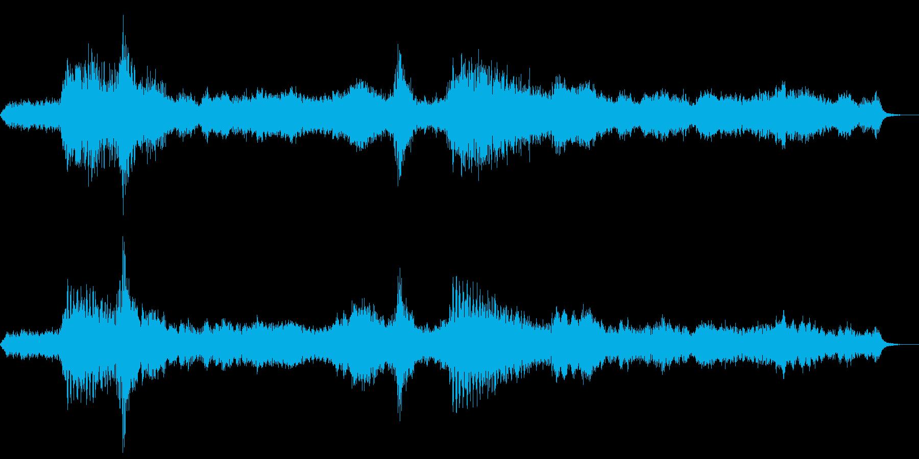映画寄りの静かなホラーBGMの再生済みの波形