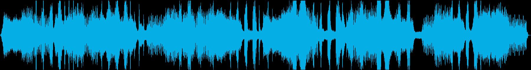 ソルフェジオ周波数入り瞑想用音楽の再生済みの波形