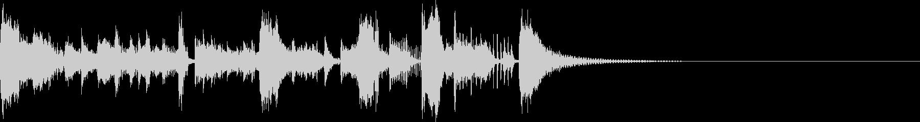 ヒップホップ風の明るいイメージのジングルの未再生の波形