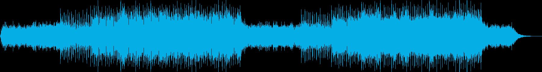 テンポの良い明るく楽しげなシンセポップの再生済みの波形