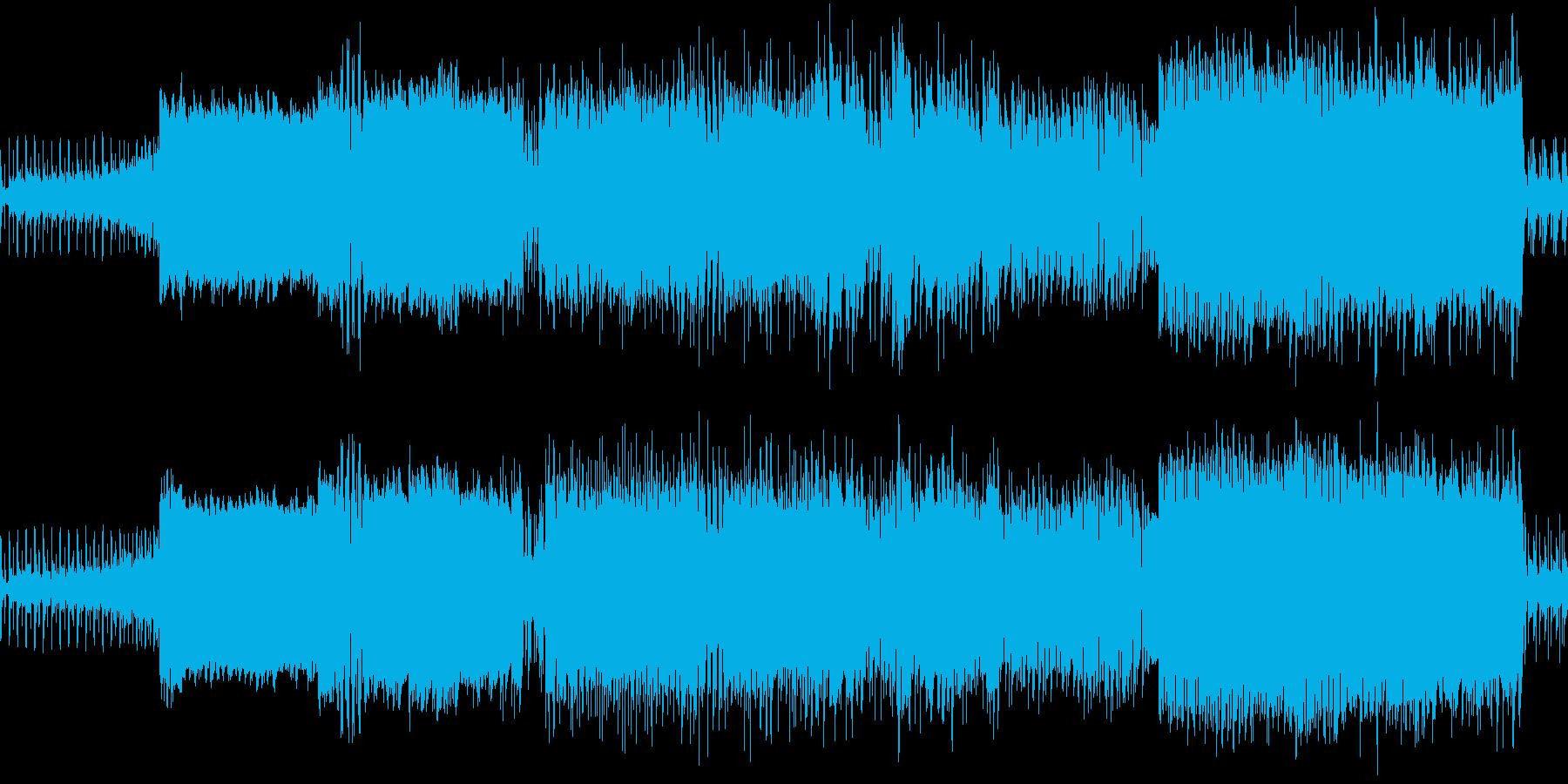 オープニング用の激しいトランス風ロックの再生済みの波形