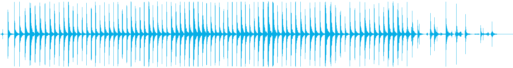 金属床、フォリーで実行の再生済みの波形