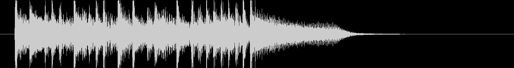 ロックテイストなピアノとドラムのジングルの未再生の波形